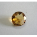 Nice Faceted Round Cut Golden Topaz(Citrine) Gem Stone, Rashi Ratan